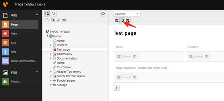 Changing page properties in TYPO3